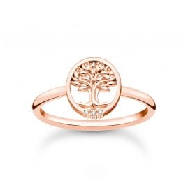 Thomas Sabo TR2375-416-14 Women's Ring Tree of Love with Stones Rose Gold