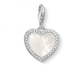 Thomas Sabo 1472-030-14 Charm Pendant Heart with Mother-of-Pearl