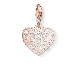 Thomas Sabo 1498-415-12 Charm Pendant Arabesque Heart Rose