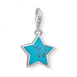 Thomas Sabo 1532-404-17 Charm Pendant Star Turquoise