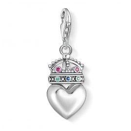 Thomas Sabo 1544-498-7 Charm-Anhänger Herz mit Krone