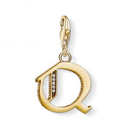 Thomas Sabo 1623-414-39 Charm Pendant Letter Q Gold Plated