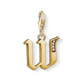 Thomas Sabo 1629-414-39 Charm Pendant Letter W Gold Plated