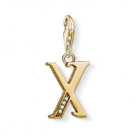 Thomas Sabo 1630-414-39 Charm Pendant Letter X Gold Plated