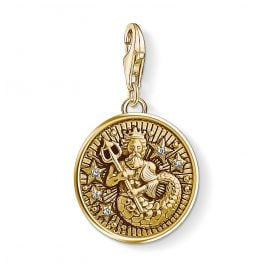 Thomas Sabo 1650-414-39 Charm Pendant Star Sign Aquarius Gold Plated