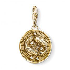 Thomas Sabo 1651-414-39 Charm-Anhänger Sternzeichen Fische vergoldet