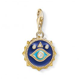 Thomas Sabo 1663-565-32 Charm Pendant Nazars Eye Gold Plated