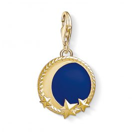 Thomas Sabo 1664-427-32 Charm Pendant Moon and Stars Gold Plated