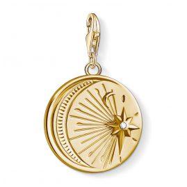 Thomas Sabo 1665-414-39 Charm-Anhänger Sonne und Mond vergoldet