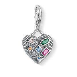 Thomas Sabo 1806-318-7 Charm Pendant Ethno Heart Colorful Stones