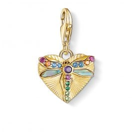 Thomas Sabo 1810-295-7 Charm Pendant Heart with Dragonfly