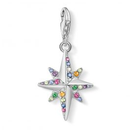 Thomas Sabo 1817-342-7 Silver Charm Pendant Colourful Star