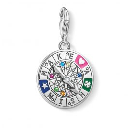 Thomas Sabo 1818-340-7 Charm Pendant Wheel of Fortune Make A Wish