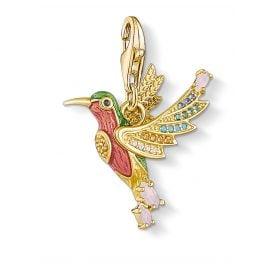 Thomas Sabo 1828-974-7 Charm-Anhänger Bunter Kolibri goldfarben