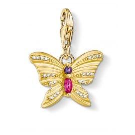 Thomas Sabo 1830-995-7 Charm-Anhänger Schmetterling goldfarben