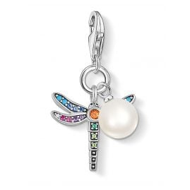 Thomas Sabo 1833-340-7 Charm Pendant Dragonfly with Pearl Silver