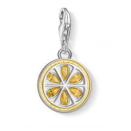 Thomas Sabo 1835-041-4 Charm-Anhänger Zitrone Silber