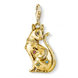 Thomas Sabo 1838-471-7 Charm Pendant Cat Constellation gold tone