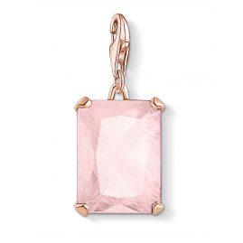 Thomas Sabo 1843-536-9 Charm-Anhänger Großer Stein Rosa roségoldfarben
