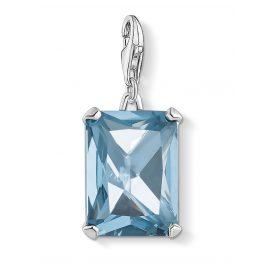 Thomas Sabo 1846-009-1 Charm-Anhänger Großer Stein Blau Silber