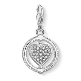 Thomas Sabo 1858-051-14 Charm Pendant Heart Pave Silver