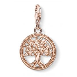 Thomas Sabo 1861-416-14 Charm Pendant Tree of Life Rose Gold Plated Silver