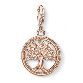Thomas Sabo 1861-416-14 Charm-Anhänger Lebensbaum Silber roségold