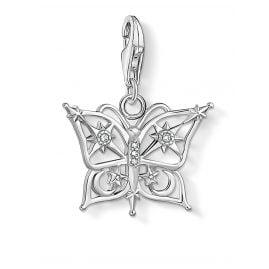 Thomas Sabo 1852-051-14 Charm-Anhänger Schmetterling Stern & Mond Silber