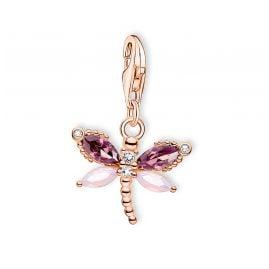 Thomas Sabo 1873-323-7 Charm Pendant Dragonfly Rose Gold Tone
