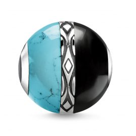 Thomas Sabo K0324-878-7 Bead Ornaments Turquoise & Black