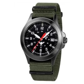 KHS BPT.NO Black Platoon Titanium Mens Watch Nato Strap Olive