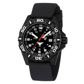 KHS RE.SB Mens Watch Reaper with Silicone Strap Black