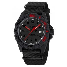 KHS RE2REDF.NB Men's Watch with Textile Strap Black/Red Reaper MKII