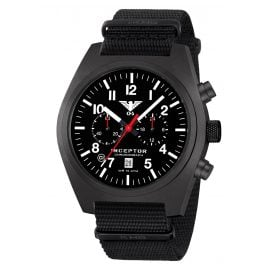 KHS INCBSC.NB Herren-Chronograph Inceptor Black Steel