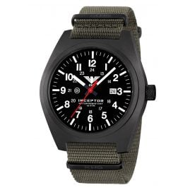 KHS INCBS.NSGO Men's Watch Inceptor Black Steel Stone Grey Olive