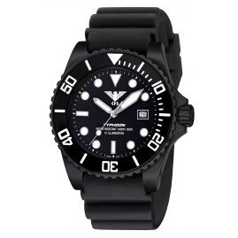 KHS TYBS.DB Diving Watch Typhoon Black Steel