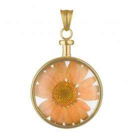 Blumenkind BL01MGOOR Flower Pendant gold/orange