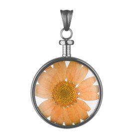 Blumenkind BL01MGROR Flower Pendant Grey/Orange