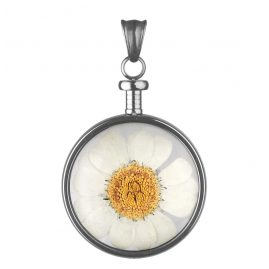 Blumenkind BL01MGRWH Ladies Pendant Flower Grey/White