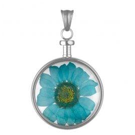 Blumenkind BL01MSSBL Kettenanhänger Blume Blau