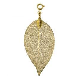 Blumenkind BL03MGO Ladies Pendant Leaf Gold Tone M