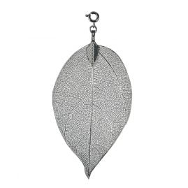 Blumenkind BL03MGR Ladies Necklace Pendant Leaf Grey M