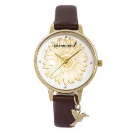 Blumenkind 04091981GWHPBR Ladies' Watch Gold/Cocoa Brown