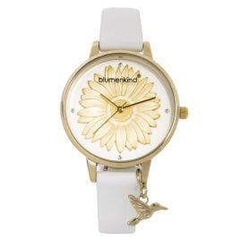 Blumenkind 04091981GWHPWH Damenarmbanduhr Gold/Weiß
