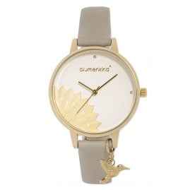 Blumenkind 13121989GWHPGR Ladies' Wristwatch Pennsylvania Gold/Cashmere Grey