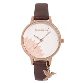 Blumenkind 13121989RWHPBR Ladies' Wristwatch Pennsylvania Rose Gold/Cocoa Brown