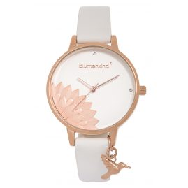 Blumenkind 13121989RWHPWH Ladies' Wristwatch Pennsylvania Rose Gold/White