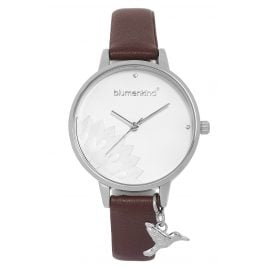 Blumenkind 13121989SWHPBR Ladies' Wristwatch Pennsylvania Silver/Cocoa Brown