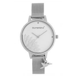 Blumenkind 13121989SWHSS Damen-Armbanduhr Pennsylvania mit Mesh-Armband Silber
