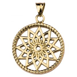 Traumfänger TF01SGO Dreamcatcher Pendant Star Gold Tone S